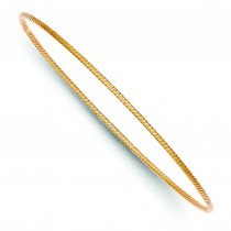 Twist Slip-On Bangle Bracelet in 14k Rose Gold