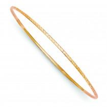 Diamond-Cut Slip-On Bangle Bracelet in 14k Rose Gold