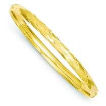 Fancy Hinged Bangle Bracelet in 14k Yellow Gold