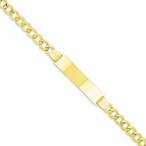 Curb Link ID Bracelet in 14k Yellow Gold