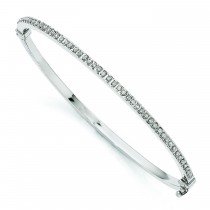 Hinged Bangle in 14k White Gold
