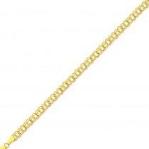 Double Link Charm Bracelet in 14k Yellow Gold