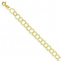 Triple Link Charm Bracelet in 14k Yellow Gold