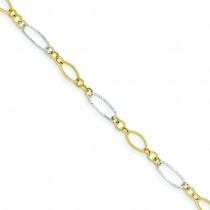 Oval Shapes Bracelet in 14k Two-tone Gold