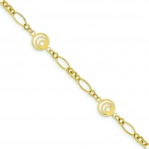 Oval Circles Design Bracelet in 14k Yellow Gold