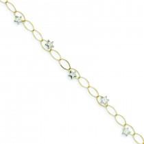 Puff Stars Bracelet in 14k Two-tone Gold