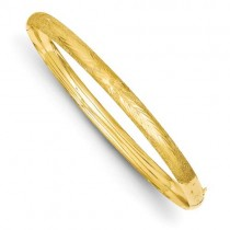 Florentine Hinged Bangle Bracelet in 14k Yellow Gold