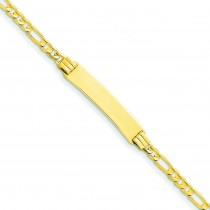 Figaro ID Bracelet in 14k Yellow Gold