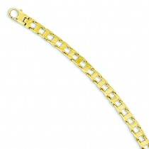 Fancy Link Bracelet in 14k Yellow Gold