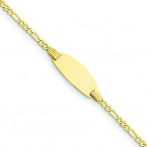ID Bracelet in 14k Yellow Gold