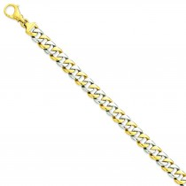 Polished Fancy Link Bracelet in 14k Yellow Gold