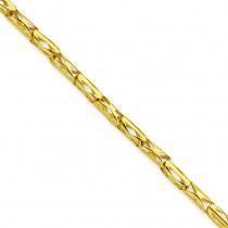 Barrel Link Fancy Bracelet in 14k Yellow Gold