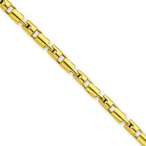 Barrel Fancy Bracelet in 14k Yellow Gold