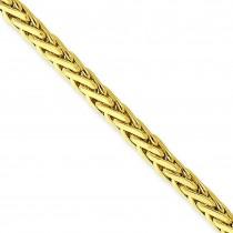 Flat-Edged Woven Link Fancy Bracelet in 14k Yellow Gold
