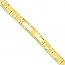 Mm Nugget ID Bracelet in 14k Yellow Gold