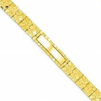 Nugget ID Bracelet in 14k Yellow Gold