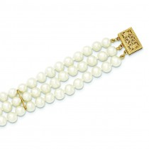 Strand Cultured Pearl Bracelet in 14k Yellow Gold