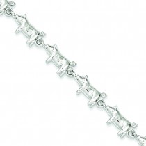 Pig Bracelet in Sterling Silver