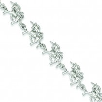 Unicorns Bracelet in Sterling Silver