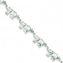 Elephants Bracelet in Sterling Silver