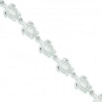 Sea Turtles Bracelet in Sterling Silver