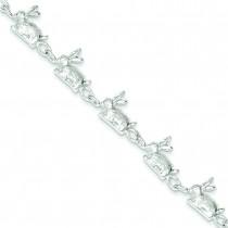 Rabbits Bracelet in Sterling Silver