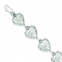 Heart Bracelet in Sterling Silver