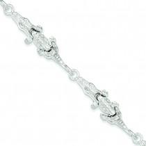 Alligator Bracelet in Sterling Silver