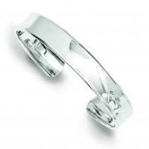 8.5mm Cuff Bangle in Sterling Silver