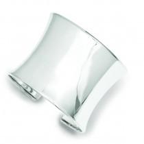 50mm Cuff Bangle Bracelet in Sterling Silver