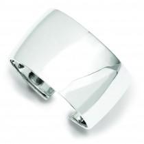 40mm Cuff Bangle Bracelet in Sterling Silver