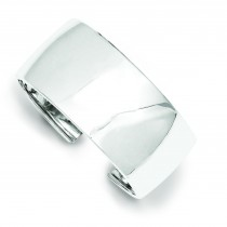 30mm Cuff Bangle Bracelet in Sterling Silver