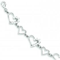 CZ Journey Bracelet in Sterling Silver
