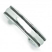 14.5mm Antiqued Cuff Bangle Bracelet in Sterling Silver