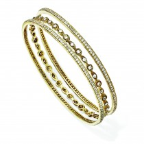 CZ Three Bangle Set in Sterling Silver