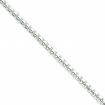 5.20mm Round Box Bracelet in Sterling Silver