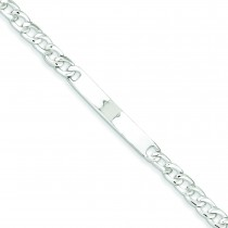 Baby ID Curb Link Bracelet in Sterling Silver