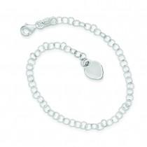 Round Link Bracelet in Sterling Silver