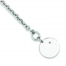 Diamond Disc Bracelet in Sterling Silver
