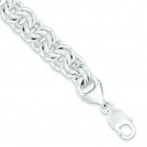 Fancy Link Bracelet in Sterling Silver