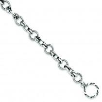Antiqued Link Bracelet in Sterling Silver