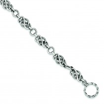 Antiqued Link Bracelet in Sterling Silver