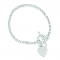 Fancy Heart Bracelet in Sterling Silver