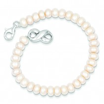 Freshwater Cultured Pearl Bracelet in Sterling Silver