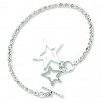 Fancy Stars Bracelet in Sterling Silver