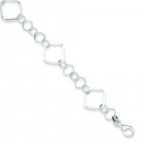Square Link Bracelet in Sterling Silver