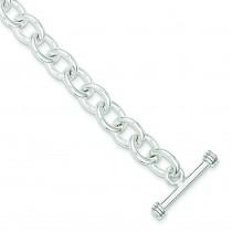 Fancy Link Toggle Bracelet in Sterling Silver