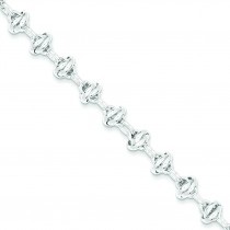 7.5inch Fancy Link Bracelet in Sterling Silver