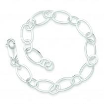 8.5inch Link Bracelet in Sterling Silver