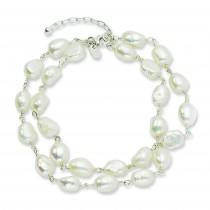 8.5 inch Pearl Bracelet in Sterling Silver